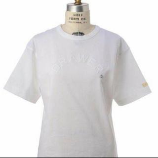 ドゥロワー(Drawer)のドゥロワー  ロゴ Tシャツ ホワイト(Tシャツ(半袖/袖なし))