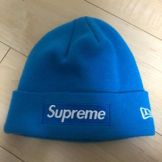953f3fcbd Supreme x New Era ニット帽 ビーニー ブルー