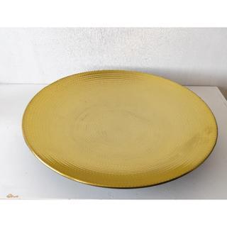 イケア(IKEA)のIKEA 琺瑯 ホーロー 大皿 金(食器)