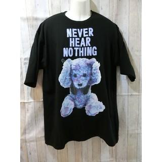 ミルクボーイ(MILKBOY)のMILKBOY クマT 大きめサイズ BIGT ブラック×ブルー(Tシャツ/カットソー(半袖/袖なし))