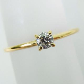 K18 ダイヤモンド ピンキーリング 4号[f16-2](リング(指輪))