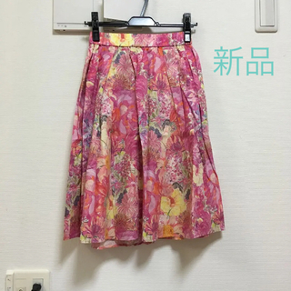 ドアーズ(DOORS / URBAN RESEARCH)のリバティ 花柄 スカート 新品 アーバンリサーチ ドアーズ レディース キレイ目(ひざ丈スカート)