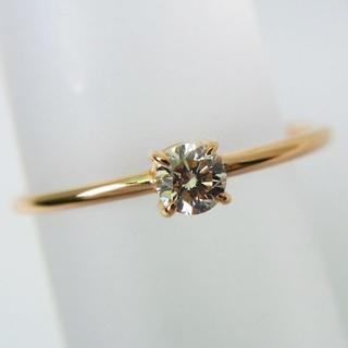 K18PG ダイヤモンド ピンキーリング 4号[f16-5] (リング(指輪))