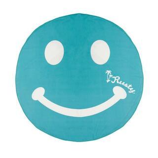 ラスティ(RUSTY)の37(緑)ラスティー★タオル 大判 丸型 937931 スマイル笑顔 バスタオル(マリン/スイミング)