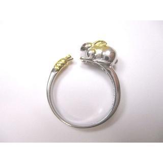 【新品】お座りうさぎの指輪 フリーサイズ【送料込み】【輸入雑貨】(リング(指輪))