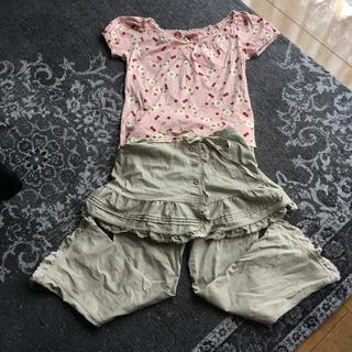 ピンクハウス(PINK HOUSE)のピンクハウス  Tシャツ&パンツ  巻きスカート付(セット/コーデ)