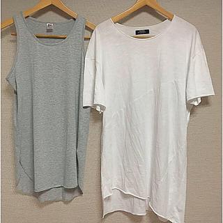 Bershka - ベルシュカ メンズ ロング ビック Tシャツ タンク