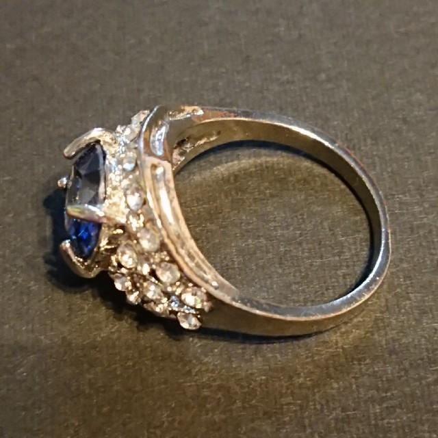 サファイア風リング レディースのアクセサリー(リング(指輪))の商品写真