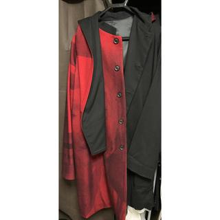 ヨウジヤマモト(Yohji Yamamoto)の18AW look35 赤黒コート(チェスターコート)