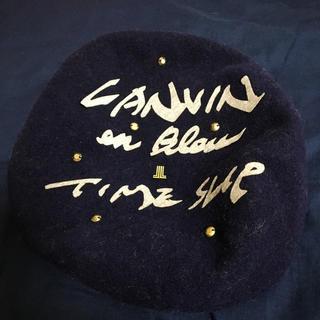 ランバンオンブルー(LANVIN en Bleu)のベレー帽 LANVIN(ハンチング/ベレー帽)