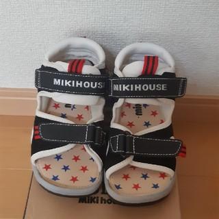 ミキハウス(mikihouse)の新品 ミキハウス サンダル 18cm ブラック 黒(サンダル)