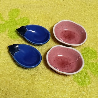 さつまいも、なすの小鉢 各2個セット(食器)