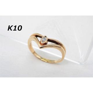 【BU-43】K10 ピンクゴールド リング 16号相当 指輪 刻印あり(リング(指輪))