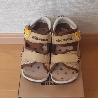 ミキハウス(mikihouse)のミキハウス サンダル 靴 ベージュ 16cm 男女兼用(サンダル)
