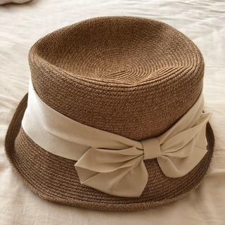 フォクシー(FOXEY)の美品 神戸 マキシン 帽子(麦わら帽子/ストローハット)