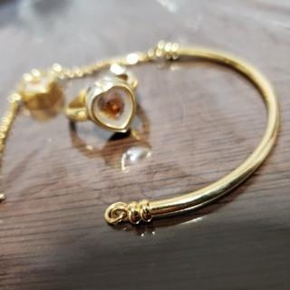 ☆sale☆ブレスレット×指輪のセット ゴールド ハートモチーフ(ブレスレット/バングル)