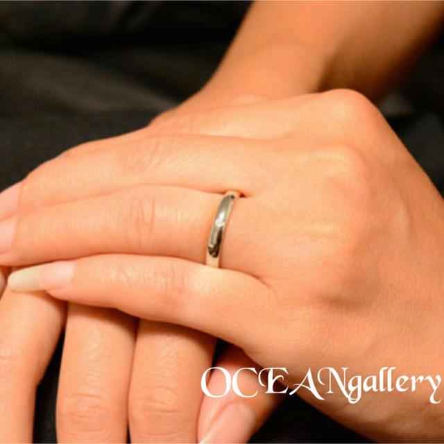 送料無料 22号 シルバーサージカルステンレススーパーCZシンプル甲丸リング指輪 メンズのアクセサリー(リング(指輪))の商品写真