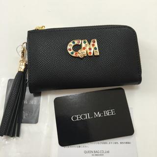セシルマクビー(CECIL McBEE)の新品 セシルマクビー L字ファスナー式開閉 スマートキー対応 キーケース  黒(キーケース)