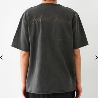 ロデオクラウンズワイドボウル(RODEO CROWNS WIDE BOWL)のロデオ★メンズ ロゴ Tシャツ/ブラック/L(Tシャツ/カットソー(半袖/袖なし))