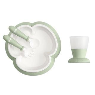 ベビービョルン(BABYBJORN)の新品✦1点のみ Baby Bjorn 食器4点SET(powder green)(離乳食器セット)