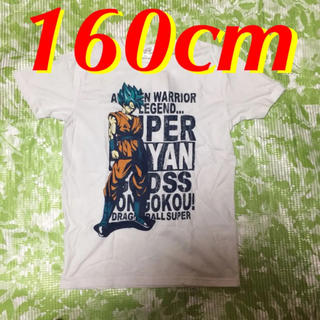 ドラゴンボール(ドラゴンボール)の160cm☆ドラゴンボール超/孫悟空 男児用プリントTシャツ (白/ホワイト)(Tシャツ/カットソー)