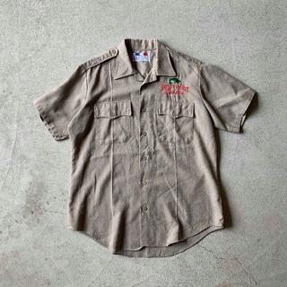 古着屋で購入** 刺繍入り ハンティング シャツ L ベージュ ミリタリー(シャツ)