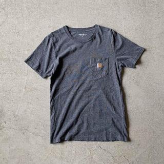 """カーハート(carhartt)の""""定番"""" Carhartt カーハート ロゴ ポケット Tシャツ グレー M(Tシャツ/カットソー(半袖/袖なし))"""