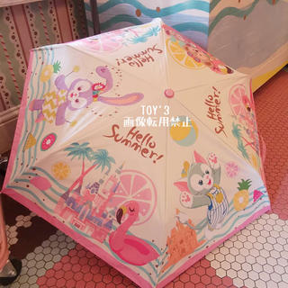 ダッフィー(ダッフィー)の日本未発売 上海ディズニー サマー ダッフィー シェリーメイ 折りたたみ傘(傘)