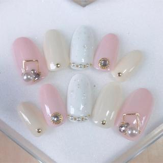 ネイルチップ シェル ネイル 夏 大人 かわいい シンプル ピンク 量産型
