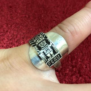 アンティーク リング スプーンリング 12号 調節可 男女兼用 ペルー 381(リング(指輪))