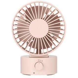 ムジルシリョウヒン(MUJI (無印良品))の【美品】無印良品  USBデスクファン (低騒音ファン) ピンク (扇風機)