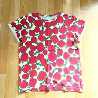 ハッカキッズ(hakka kids)のhakka kids りんごカットソー(Tシャツ(半袖/袖なし))