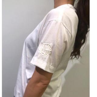 ドゥロワー(Drawer)の定価以下2019ss  新品 BLAMINK ロゴ刺繍Tシャツ  ブラミンク (Tシャツ(半袖/袖なし))