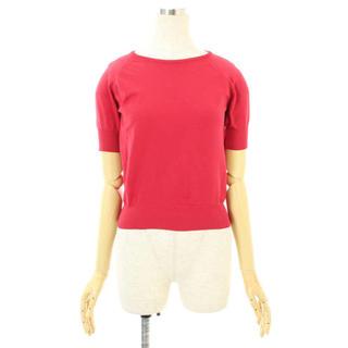 ミュウミュウ(miumiu)のmiumiu Tシャツ サマーニット カットソー 赤(ニット/セーター)