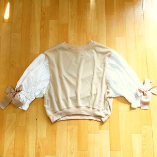 カワイイ(cawaii)の新品 cawaii 袖バルーンリボン カットソー(カットソー(半袖/袖なし))
