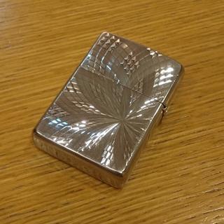 ジッポー(ZIPPO)のzippo  ダイヤモンドカット プラチナ 定価8000円(タバコグッズ)