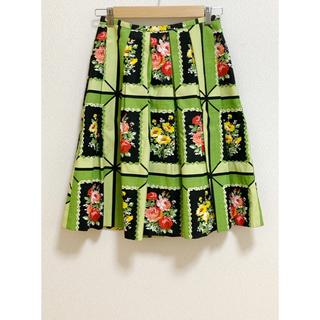 ジェイアンドエムデヴィッドソン(J&M DAVIDSON)のJ&M DAVIDSON 希少 お花柄スカート (ひざ丈スカート)