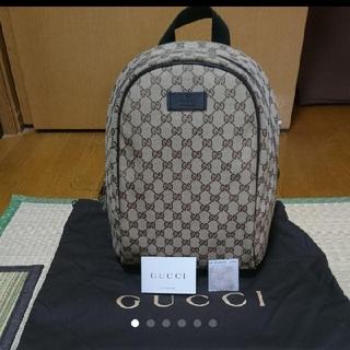 グッチ(Gucci)の【お値下げ】GUCCI リュック バックロゴ キャンバス(リュック/バックパック)