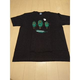 ユナイテッドアローズ(UNITED ARROWS)の新品☆ 沖縄 で有名? キャラクターTシャツ  ( Black ) メンズ(Tシャツ/カットソー(半袖/袖なし))