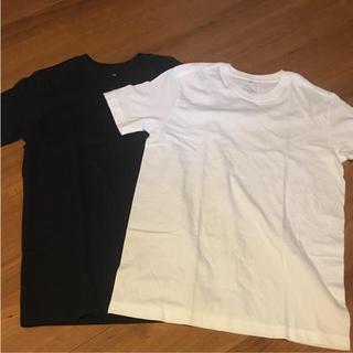 ムジルシリョウヒン(MUJI (無印良品))の菜な様専用!!!無印良品 クルーネック半袖シャツ 2枚組(Tシャツ/カットソー(半袖/袖なし))