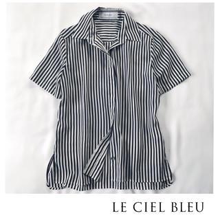 ルシェルブルー(LE CIEL BLEU)のルシェルブルー  ストライプブラウス シャツ(シャツ/ブラウス(半袖/袖なし))