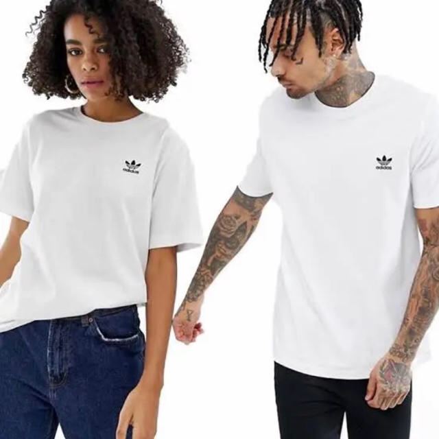 adidas(アディダス)のアディダス オリジナルス トレフォイル ワンポイントロゴ 半袖 Tシャツ 白 M メンズのトップス(Tシャツ/カットソー(半袖/袖なし))の商品写真