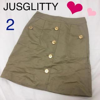 ジャスグリッティー(JUSGLITTY)のジャスグリッティー  スカート ベージュ 2M(ミニスカート)