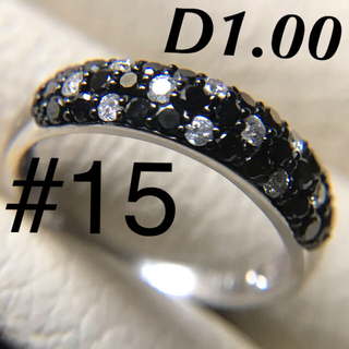 k18 ブラックダイヤモンドパヴェ 1ct k18アメジストトップ(リング(指輪))