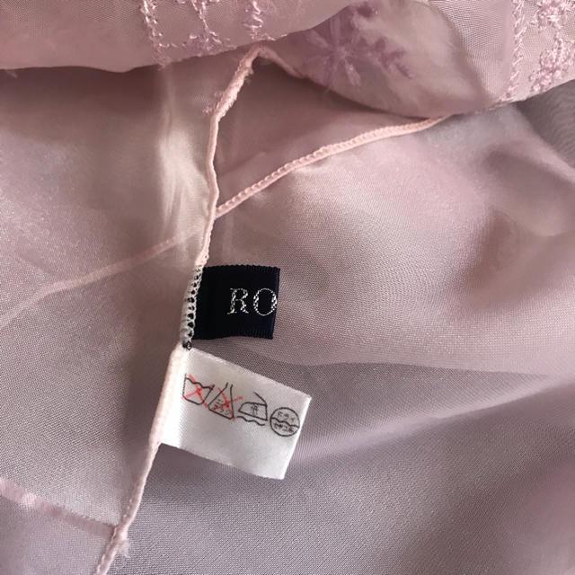 ROPE(ロペ)の♫ ROPE ♫ ピンク刺繍 ショール スカーフ レディースのファッション小物(ストール/パシュミナ)の商品写真