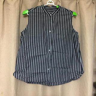 ジーユー(GU)のノースリーブブラウス(シャツ/ブラウス(半袖/袖なし))
