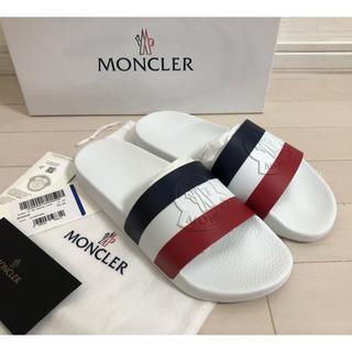モンクレール(MONCLER)の【新品未使用】40(25.0) モンクレール ロゴ  シャワーサンダル(サンダル)