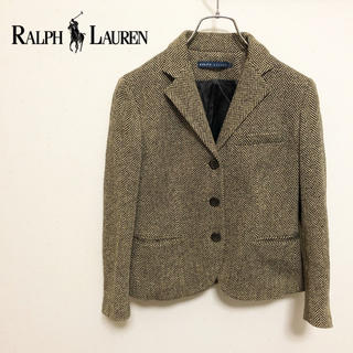 ラルフローレン(Ralph Lauren)の【RALPH LAUREN】ヘリンボーン ツイード テーラードジャケット(テーラードジャケット)
