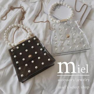 ザラ(ZARA)の《2colour》Pearl clear bag/パール クリアバッグ(ショルダーバッグ)