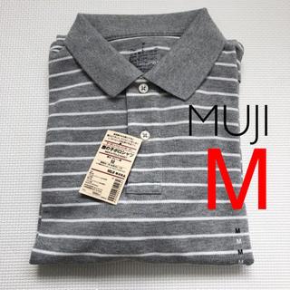 ムジルシリョウヒン(MUJI (無印良品))の新品未着用 無印良品 オーガニックコットン 鹿の子ポロシャツ グレー M(ポロシャツ)